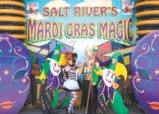 "Salt River Tubing will offer free Mardi Gras beads   and a ""Parade of Floats"" on Saturday, Aug. 18."