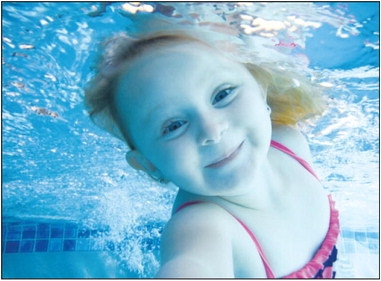 This happy little water sprite is 3-year-old Faith Wortman, the daughter of Matt and Kim Wortman of Queen Creek.. She is taking swimming lessons from Angelee Holt, a certified Infant Swimming Resource instructor also from Queen Creek.