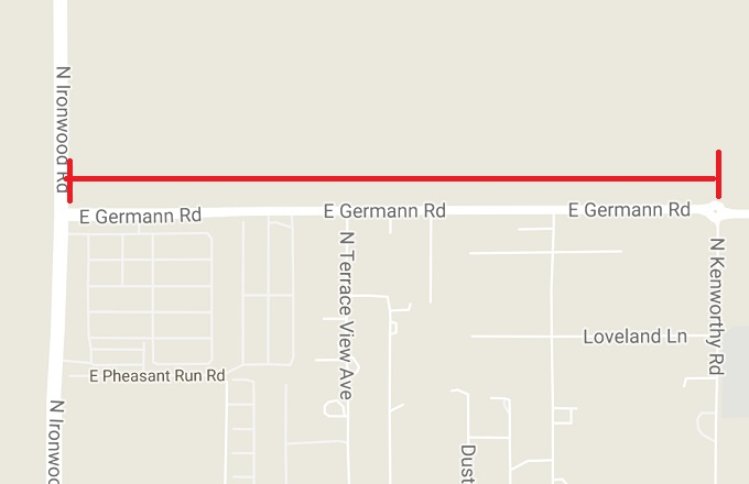 Germann Rd Closed from Ironwood to Kenworthy