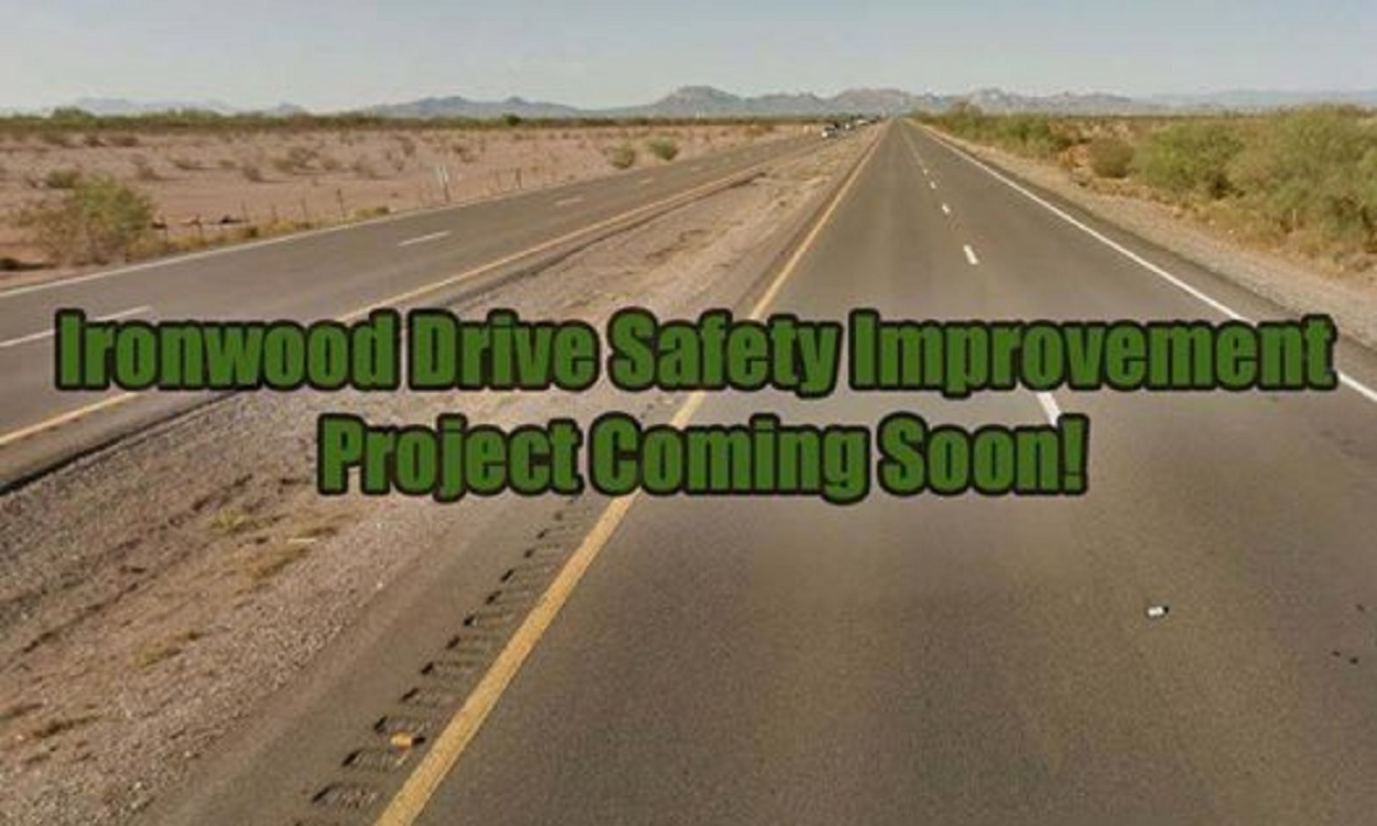 Ironwood Road Safety Improvement Project Coming Soon