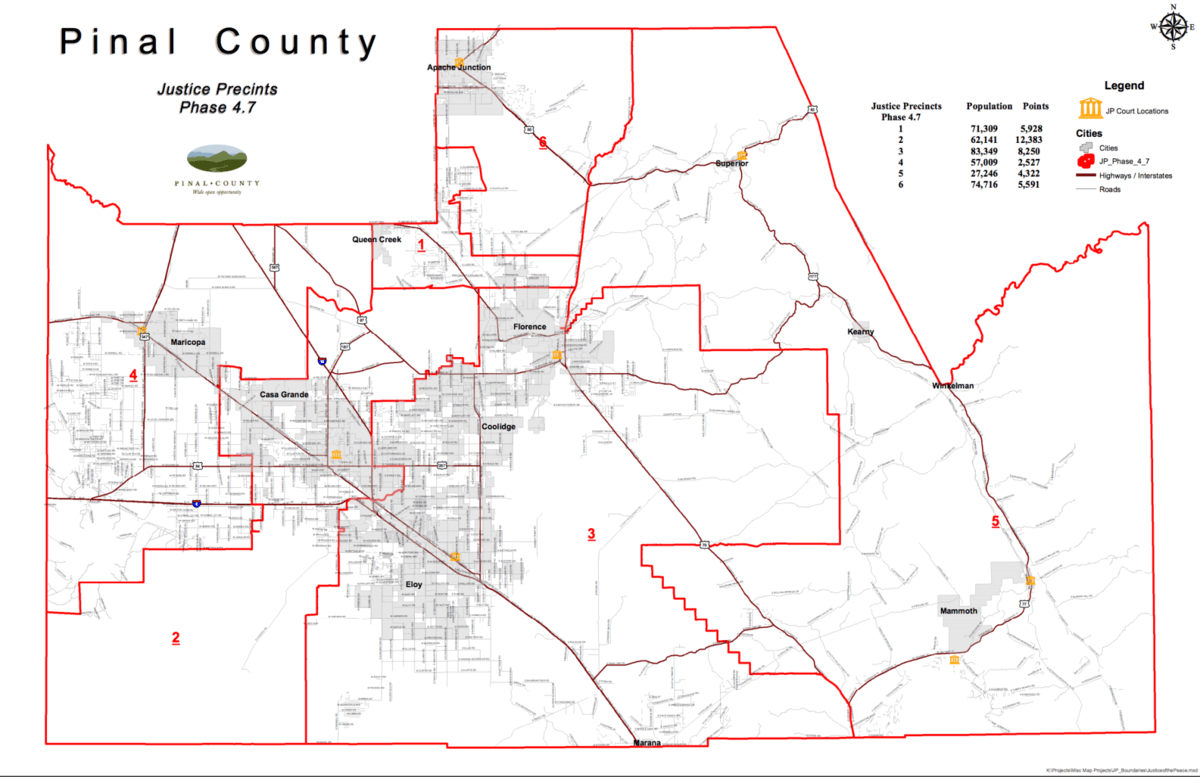 Pinal County Zip Code Map.Pinal County Justice Court Precincts To Be Redrawn Santanvalley Com