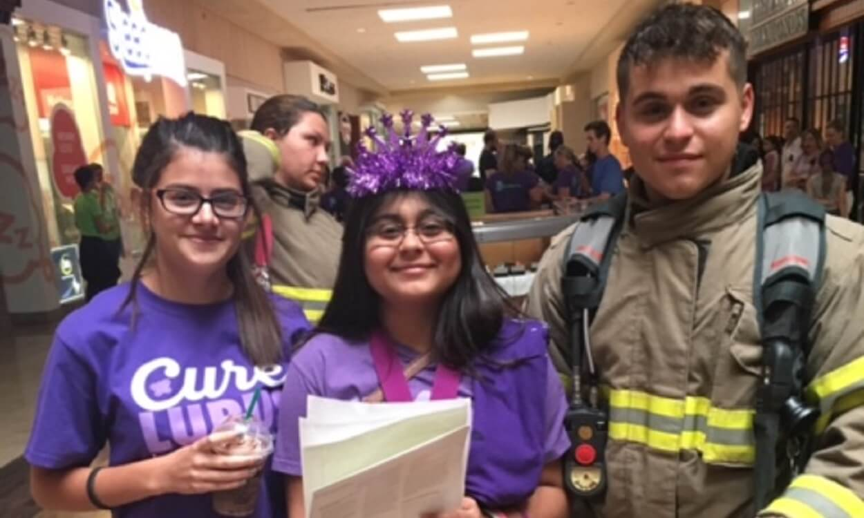 Amarissa Mauricio (Middle) takes a picture with Peyton Lea Miller (left) and her brother, Brandon Mauricio (right) during the event.